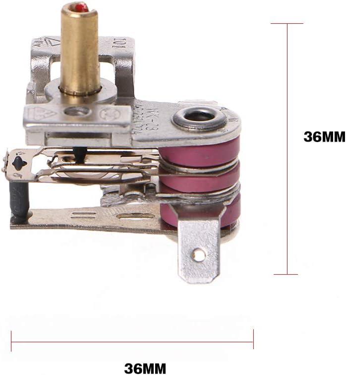 JunYe AC 250 V 16A R/églable 90 Celsius Interrupteur De Temp/érature Bim/étallique Thermostat De Chauffage KDT-200 Haute Qualit/é