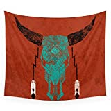 Society6 Southwest Skull Wall Tapestry Large: 88'' x 104''