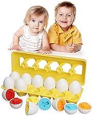 TINOTEEN Kleurvorm Bijpassend speelgoed Paasei Leren Educatief peuter baby speelgoed voor 18+ maanden