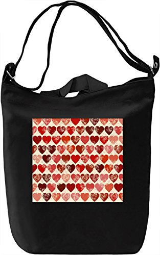 Hearts Pattern Borsa Giornaliera Canvas Canvas Day Bag| 100% Premium Cotton Canvas| DTG Printing|