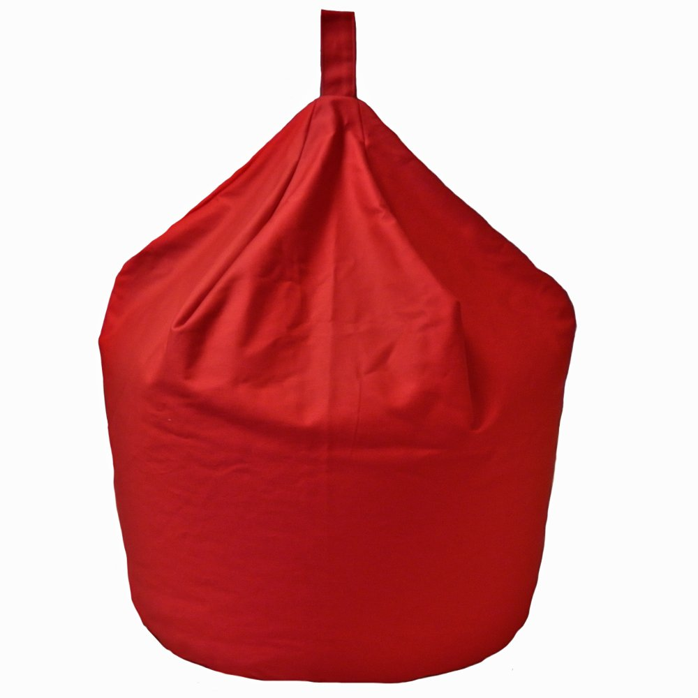 6 CUFT Large Adult Kids Red Cotton Chair Seat Beanbag Bean Bag with Beans Bean Bag Warehouse