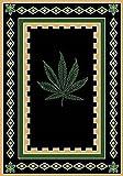 Cheap Champion Rugs Modern Contemporary Novelty Marijuana Mary Jane Weed Area Rug (5' X 7')