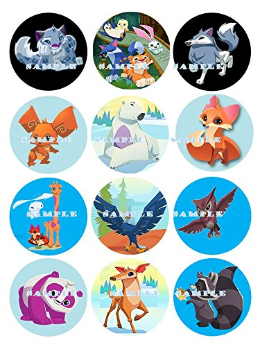 ANIMAL JAM : edible cupcake topper birthday decor frosting party decoration sheet premium sheets]()