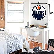 Edmonton Oilers 36x36 Team Logo Repositional Wall Decal