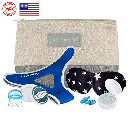 SLEEP HERO - 5-in-1 Stop SNORING KIT by Sleep Hero