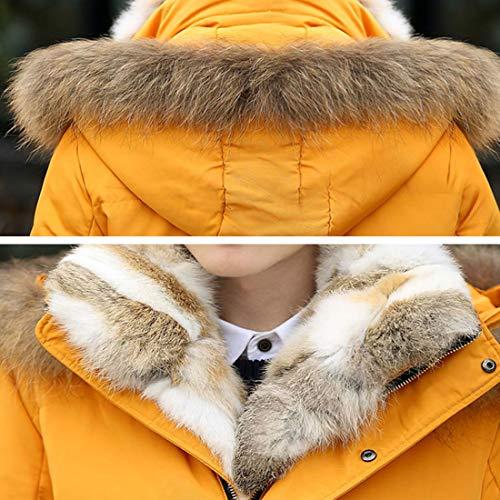Clima Chaquetas Hombres WUYEA Moda Ideal Frío Piel De para Caliente Invierno Abajo Informal Los De Chaqueta De Abrigo Cuello En q6PprqwnxU