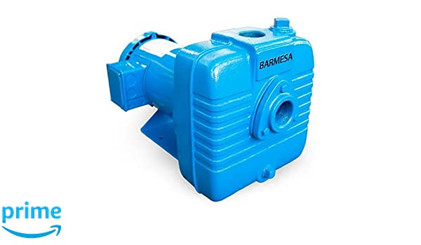 1 Phase 115//230V 1.5x1.5 Cast Iron 1.5x1.5 ODP Enclosure 2hp ODP Enclosure Barmesa Pumps BSP4CCE1 Close Coupled Self Priming Centrifugal Pump