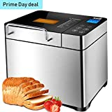 Bread Machine - Automatic Bread Maker Machine with 17 Settings Including Gluten-Free, Nuts