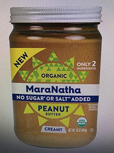 Maranatha Organic Creamy Peanut Butter No Sugar No Salt Add Organic, 16 Ounce (Pack of 3)