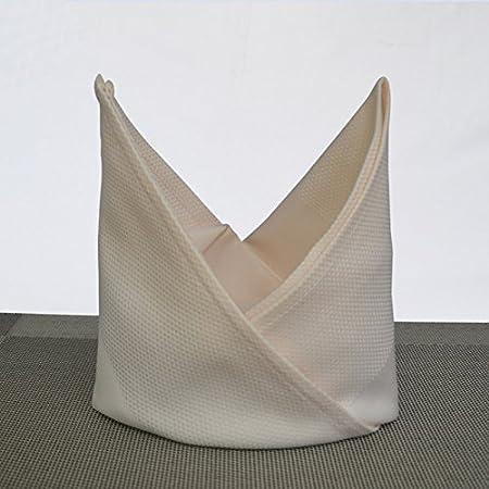 ZHFC Hotel club algodón tela caja satinada algodón servilleta ...