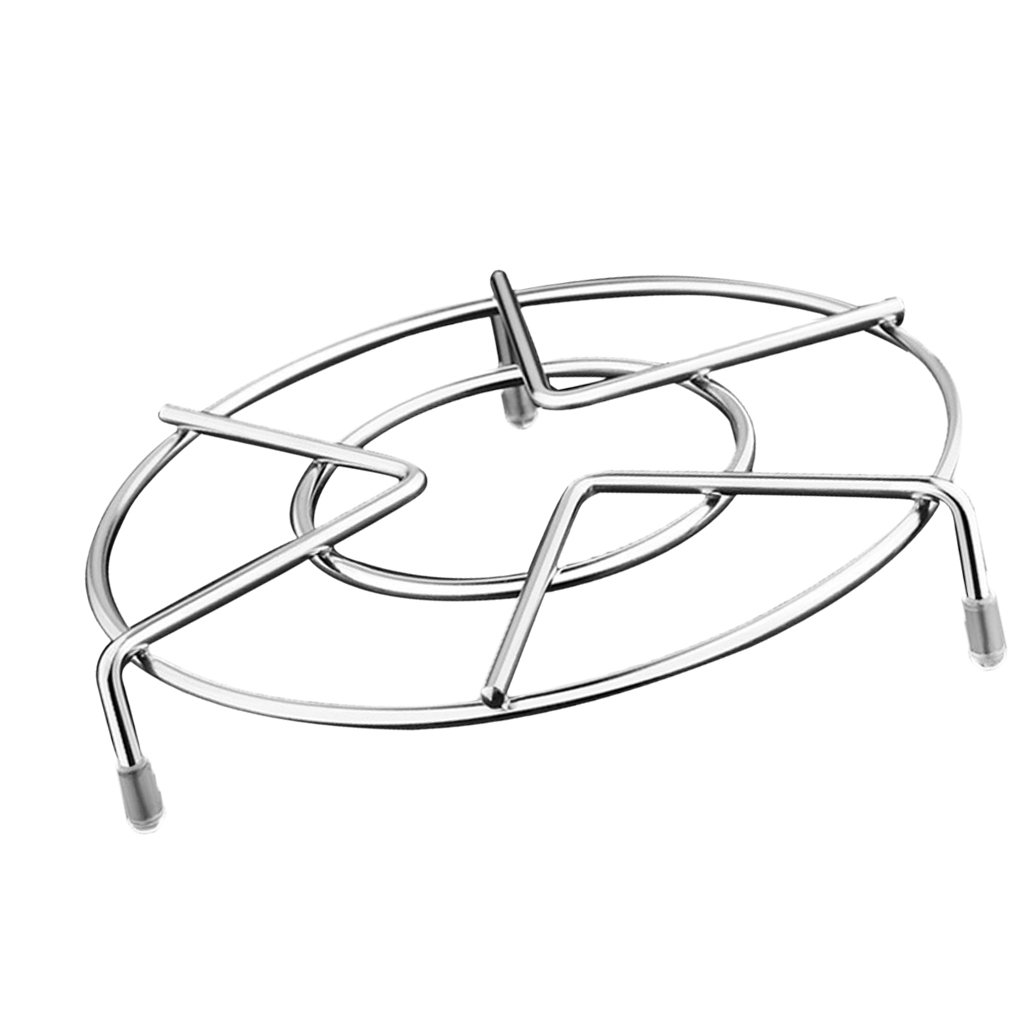 Baoblaze 1 Piece Kitchen Round Stainless Steel Steamer Rack Trivet 15CM Diameter
