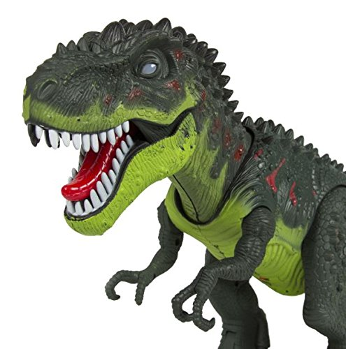 Walking T-Rex Dinosaur Kids Toy Real Movement Toy Figure With Sounds & Lights + eBook from eXXtra Store