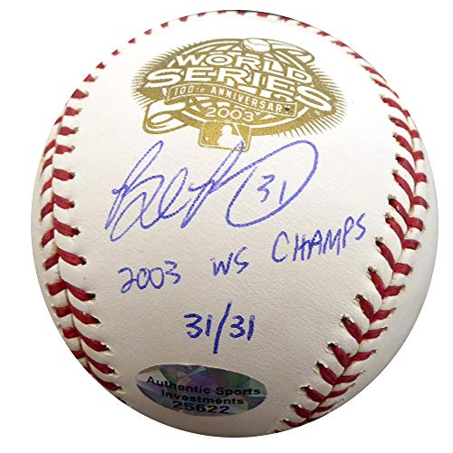 Brad Penny Signed Auto 2003 World Series Baseball Florida Marlins 2003 WS Champs #31/31 - Beckett Authentic