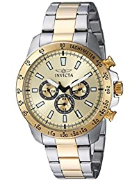 Invicta Men's 20340 Speedway Two-Tone 18k Gold Ion-Plated Stainless Steel Watch with Link Bracelet