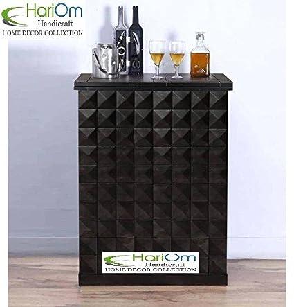 Hariom Handicraft Sheesham Wooden Bar Cabinet Bar Furniture Wine