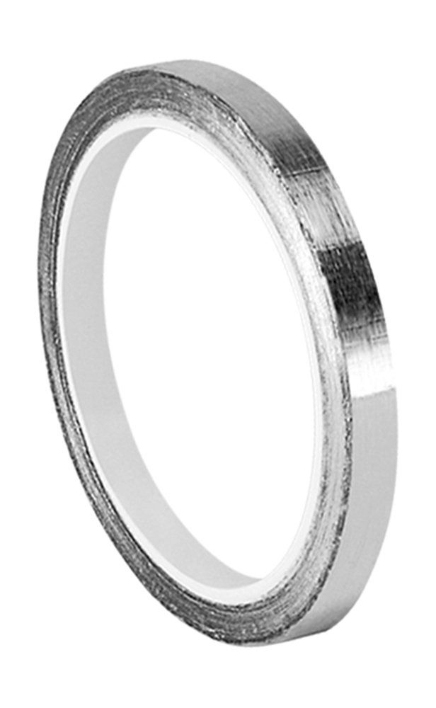 TapeCase 0.125-6-1120 Silver Aluminium Foil Tape with Conductive Acrylic Adhesive, Converted from 3M 1120, 6 yd Length, 0.125' Width, Roll 0.125 Width