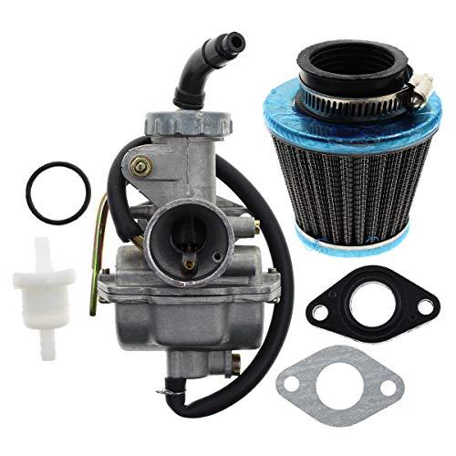 AUTOKAY PZ20 Carb Carburetor 49cc 70cc 90cc 100cc 110cc 125cc Coolster NST for Chinese ATV Quad Go kart 4 strokeSUNL TAOTAO JCL with Gasket Air Filter (Honda Pro Kart)