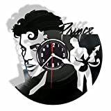 PRINCE vinyl Wall Clock- Modern room decor-Unique Handmade gift for friends and someone you love