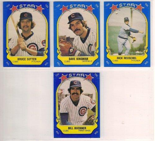 - Chicago Cubs 1981 Fleer Star Stickers Baseball Team Set (Bruce Sutter) (Dave Kingman) (Bill Buckner)