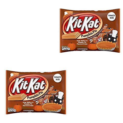KitKat Pumpkin Pie Snack Size Crisp Wafers 9.8oz, Pack of 2]()