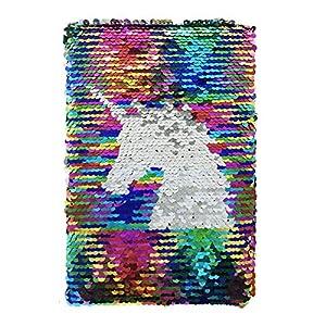 Exerz Taccuino di Paillettes Reversibile A5/ Diario con Paillettes Mermaid/ Diario della Sirena / Blocco Note Magico… 3 spesavip
