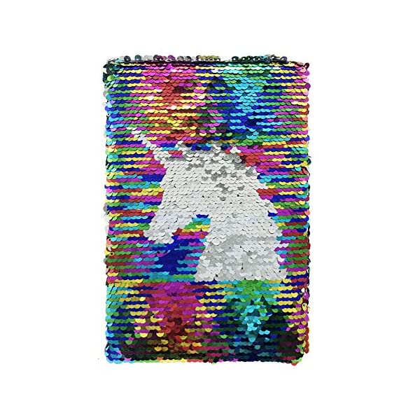 Exerz Taccuino di Paillettes Reversibile A5/ Diario con Paillettes Mermaid/ Diario della Sirena / Blocco Note Magico… 1 spesavip