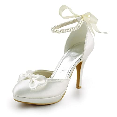 f845c889c97bfb Jia Jia Wedding 3704A Hochzeitsschuhe Brautschuhe Damen Pumps Beige