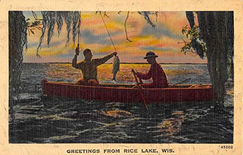 Row Boat Fishing Greeting Antique Postcard K431128 ()