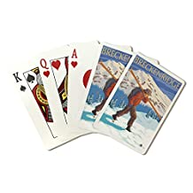Breckenridge, Colorado - Skier Carrying Skiis (Playing Card Deck - 52 Card Poker Size with Jokers)