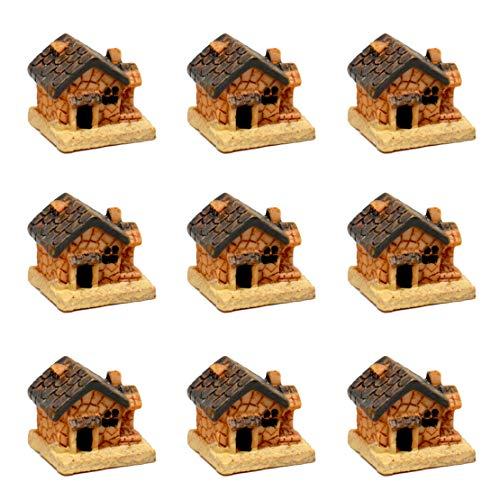 Pixie Glare Fairy Garden Micro House Village Stone Miniature House. 9 Houses - One Style