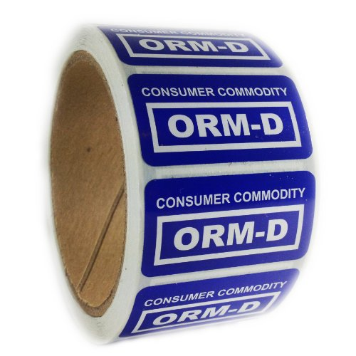 BlueConsumer Commodity ORM-D Label - 1 by 2 - 500 ct