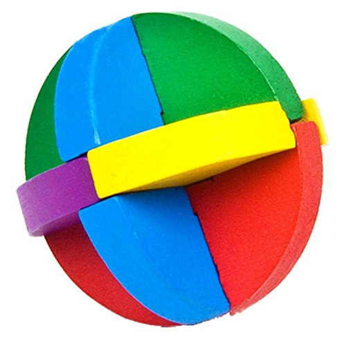 DORIC Wooden Intelligence Toy Brain Teaser Game 3D IQ Puzzle for Kids Adults