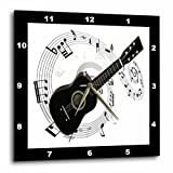 3dRose dpp_50912_1 Music Notes Guitar Wall Clock, 10 by 10-Inch For Sale