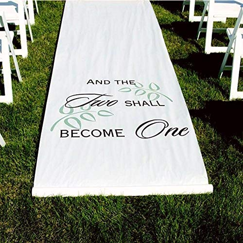 Hortense B. Hewitt Two Shall Become One White Aisle Runner (5) (And The Two Shall Become One Aisle Runner)