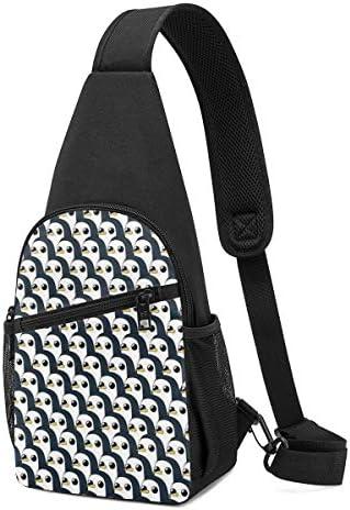かわいいペンギン 斜め掛け ボディ肩掛け ショルダーバッグ ワンショルダーバッグ メンズ 多機能レジャーバックパック 軽量 大容量