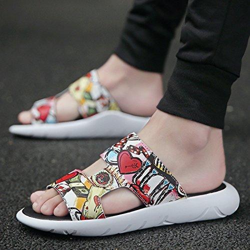 fankou La Gente Perezosa Sandalias Marea Macho Salvaje Personalidad Estudiante Ocio Sandalias Verano Zapatos Marea Playa Transpirable La red b