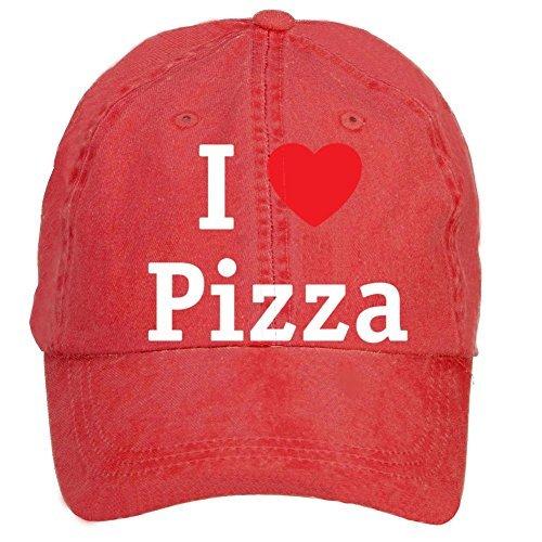 XingL Unisex I Love Pizza Adjustable Washed Hat Baseball Caps