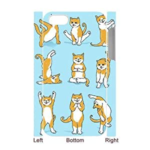 Yoga Cats Custom 3D Cover Case for Iphone 4,4S,diy phone case ygtg573693