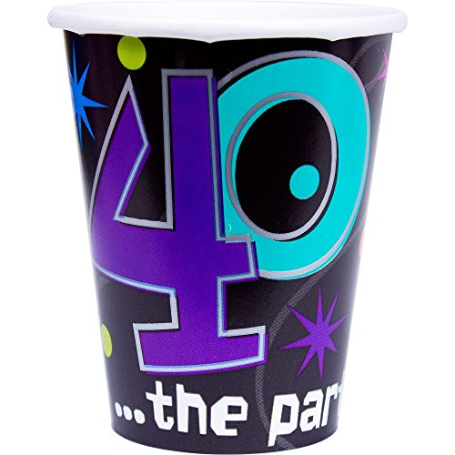The Party Continues 40th Birthday Paper Cups 8ct [Toy] by Amscan