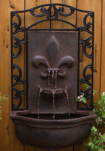 The Bordeaux - Outdoor Wall Fountain - Weathered Bronze - Water Feature for Garden, Patio and Landscape Enhancement -