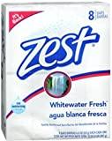 Zest Family Deodorant Bars, Whitewater Fresh 4 oz - 8 Bars (Pack of 5)