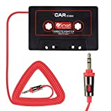 Eleshroom Universal Car Audio Cassette Adapter for Cellphones, 3.5mm AUX Music Cassette Tape