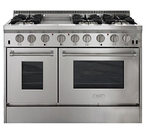 AGA APRO48AGSS  48'' Professional Gas Range with RapidBake Convection, Stainless Steel by AGA