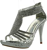 Fabulous Delicacy Womens Delicacy-07 Dressy Pumps Sandals,Silver,9