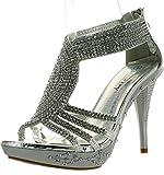 Fabulous Delicacy-07 Sandals, Silver Pu, 9