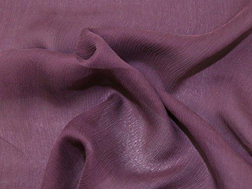 Pure Silk Crinkle Chiffon Dress Fabric Plum - per metre