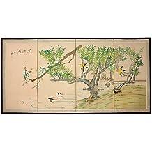"""Oriental Furniture 36"""" Birds in the Garden 1"""