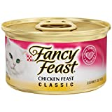 Purina Fancy Feast Classic Pate Chicken Adult Wet Cat Food - 3 oz (2 Packs of 12)