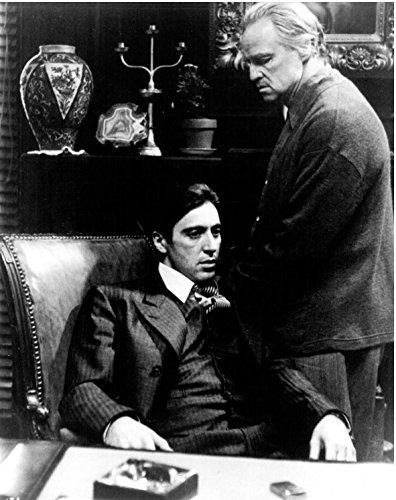 Al Pacino & Marlon Brando The Godfather Unsigned Glossy 8x10 Photo US#1002