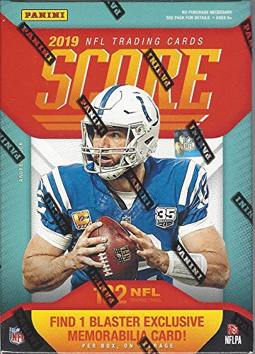 2019 Panini Score NFL Football BLASTER box (132 cards including ONE Memorabilia card)